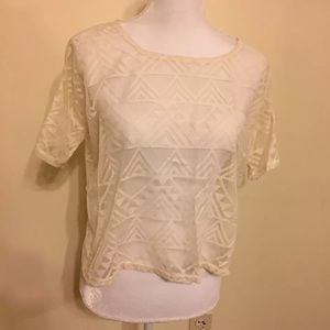 Abercrombie & Fitch Crop Top  M Ivory Sheer